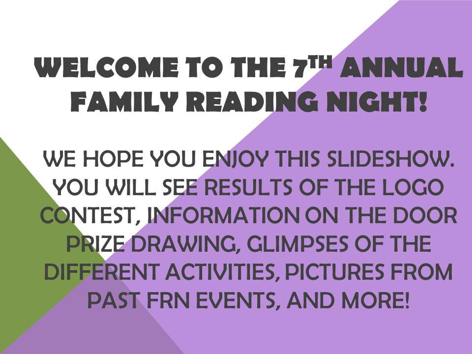FAMILY READING NIGHT NOVEMBER 4, 2011 HAMBURG MIDDLE SCHOOL