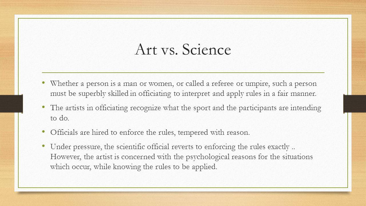 Art vs.