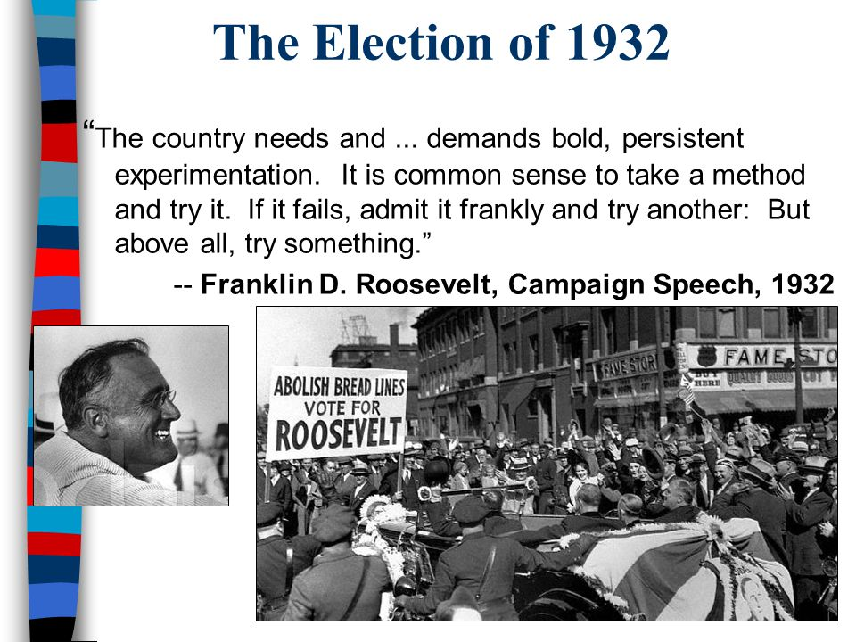 Hoover & the Depression From 1929 to 1932, President Hoover was criticized for not doing more to end the depression –Unemployment reached 25% –U.S.