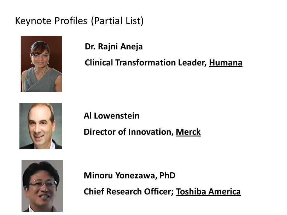 Keynote Profiles (Partial List) Dr.