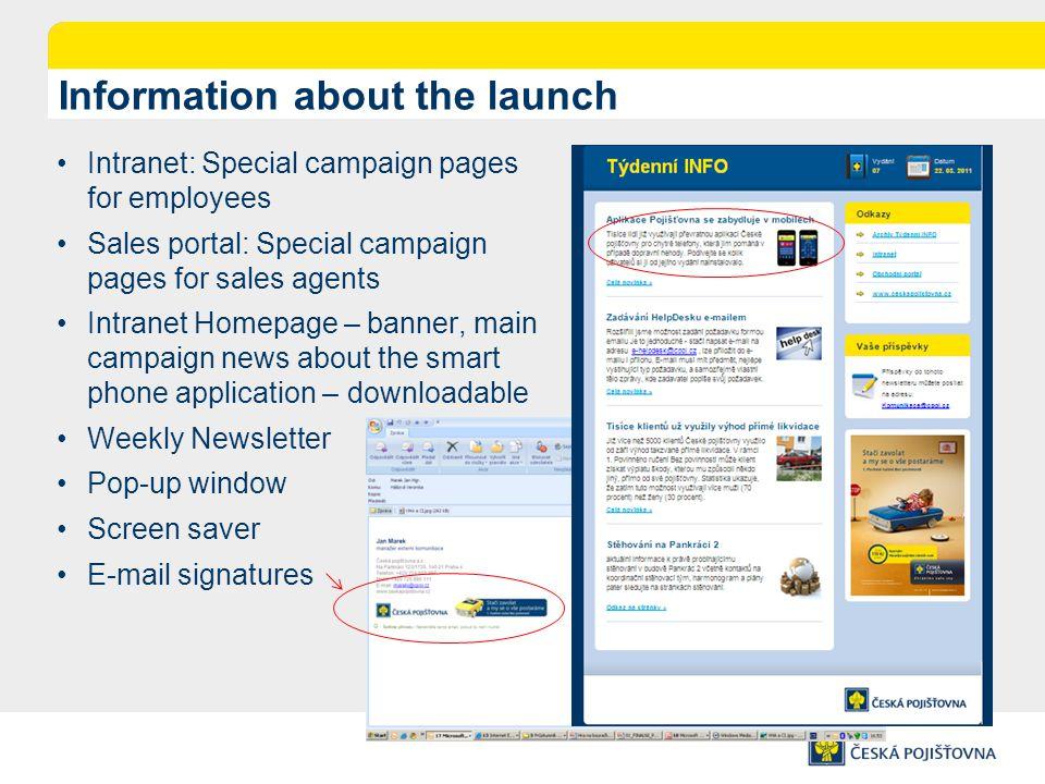 Launching intranet