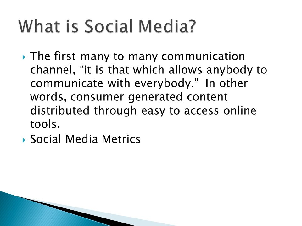 The first many to many communication channel, it is that which allows anybody to communicate with everybody.