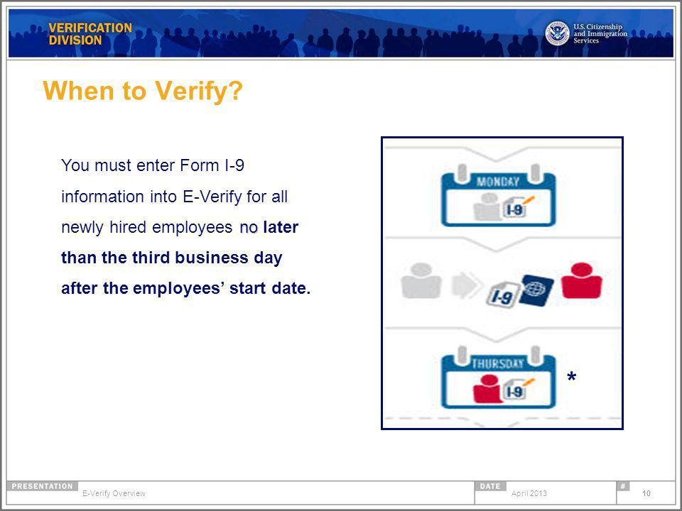 When to Verify.