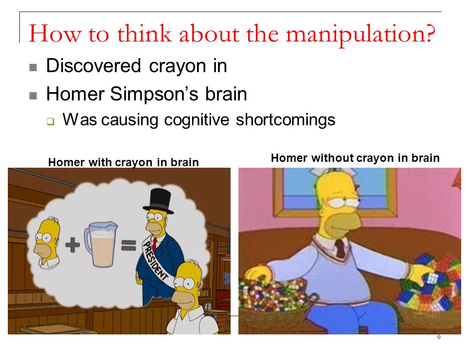 How to think about the manipulation.