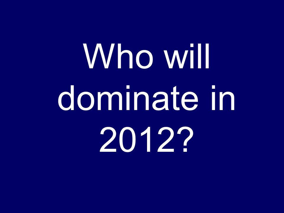 Who will dominate in 2012?