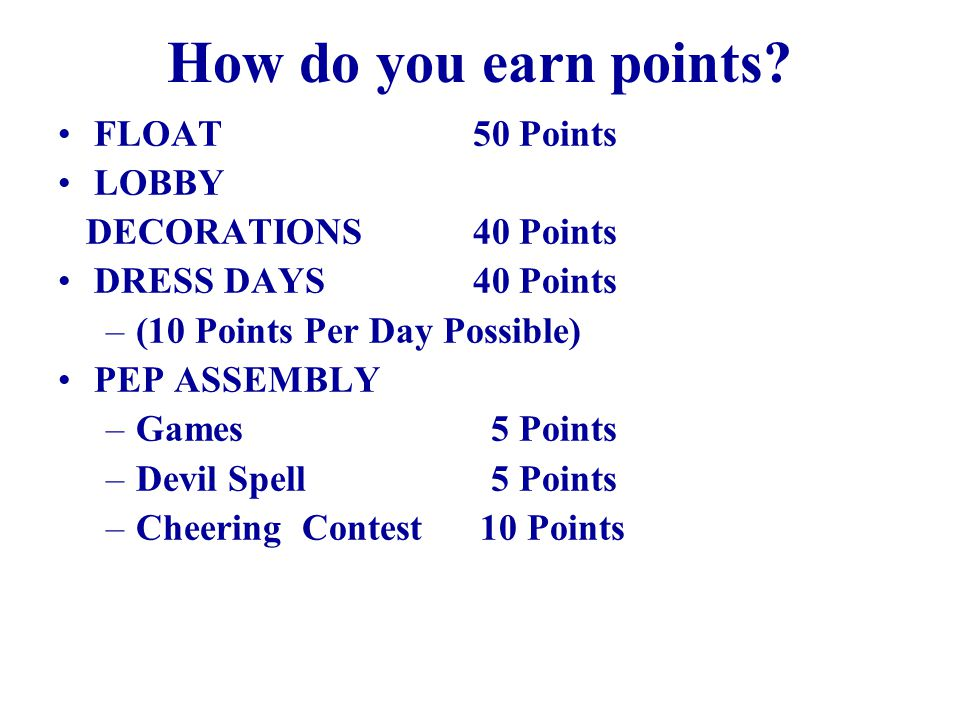 How do you earn points.