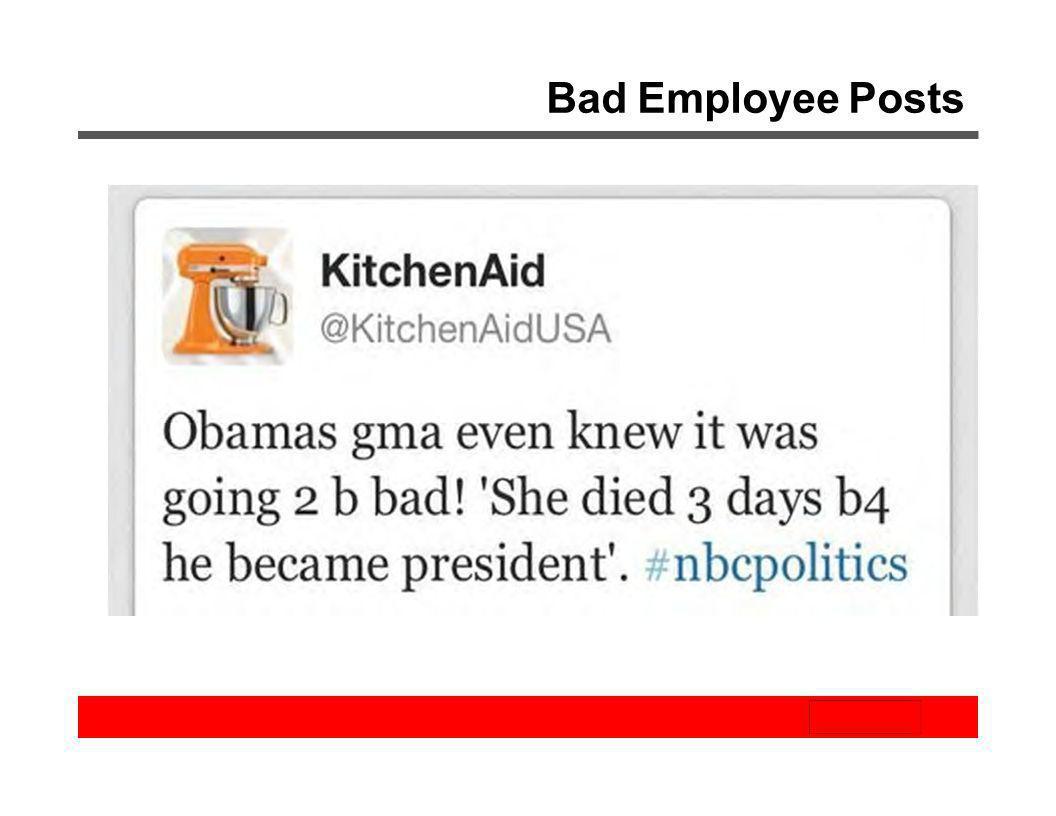 Bad Employee Posts