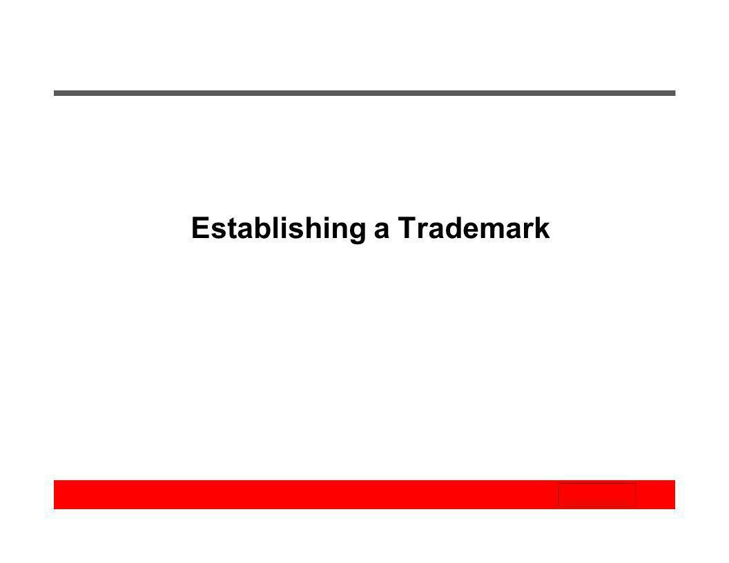 Establishing a Trademark