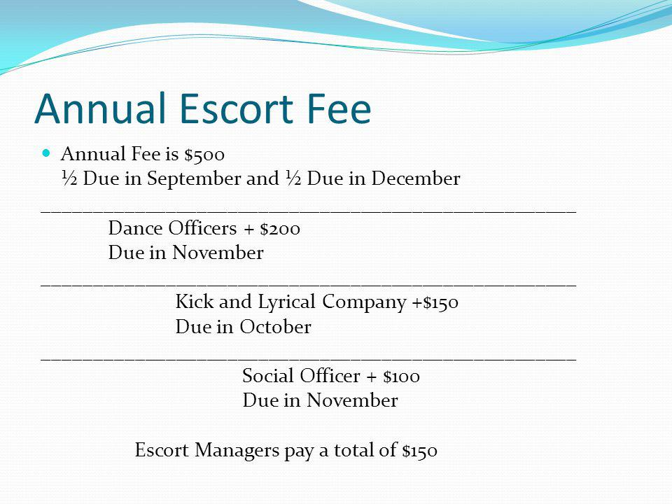 Choreography and Clinician Fee This fee will be applied to all outside choreographers and critiques.