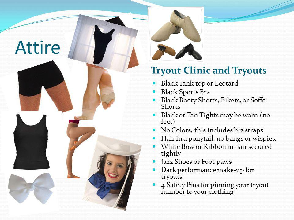 Tryout Process Students will attend a tryout clinic to learn and prepare all tryout material in the Escort Gym, located at South Campus.