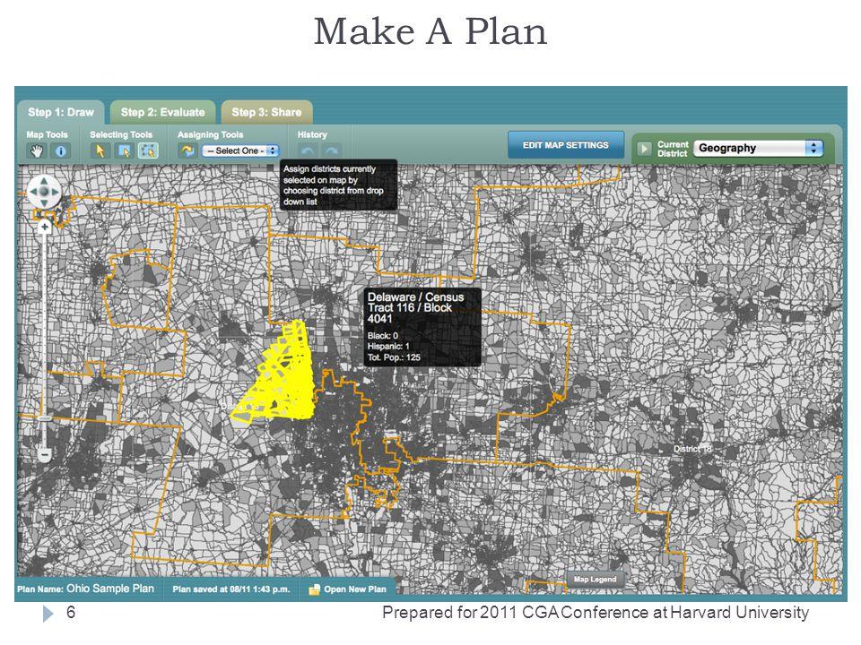 Make A Plan Prepared for 2011 CGA Conference at Harvard University6