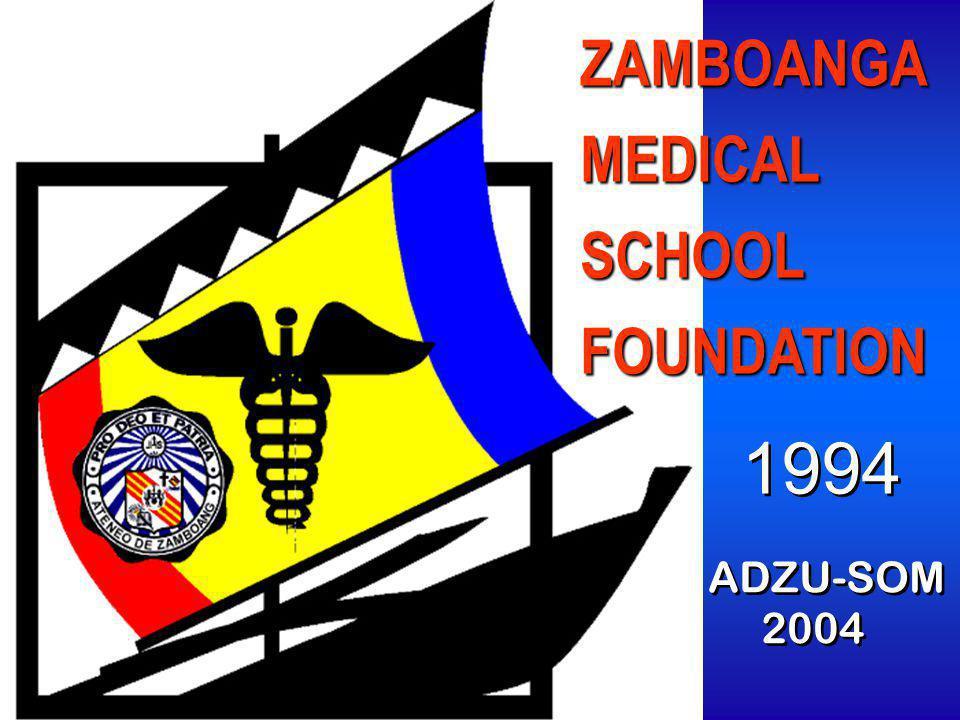 ZAMBOANGAMEDICALSCHOOLFOUNDATION 1994 ADZU-SOM 2004 ADZU-SOM 2004