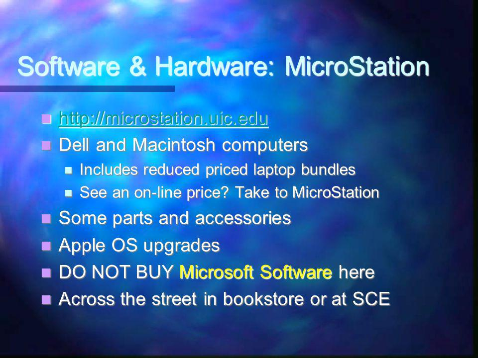 Hardware: MicroStation.uic.edu Student Center West - Bookstore