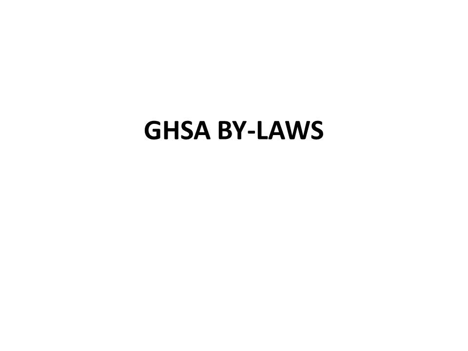GHSA BY-LAWS