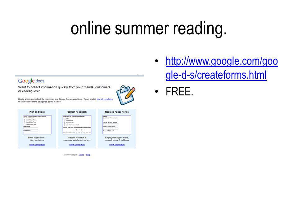 online summer reading.