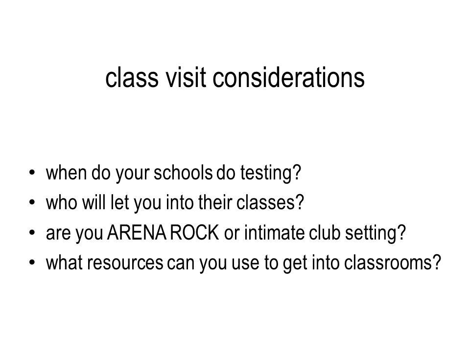 class visit considerations when do your schools do testing.