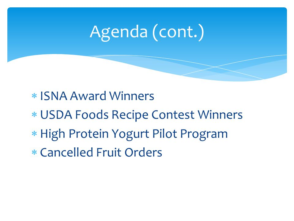 USDA updated the Child Nutrition Database on August 5, 2013 All approved software companies must download this new updated information Everyone who is currently using USDA approved software should be receiving updates shortly SP 52-2013 Child Nutrition Database Release 17