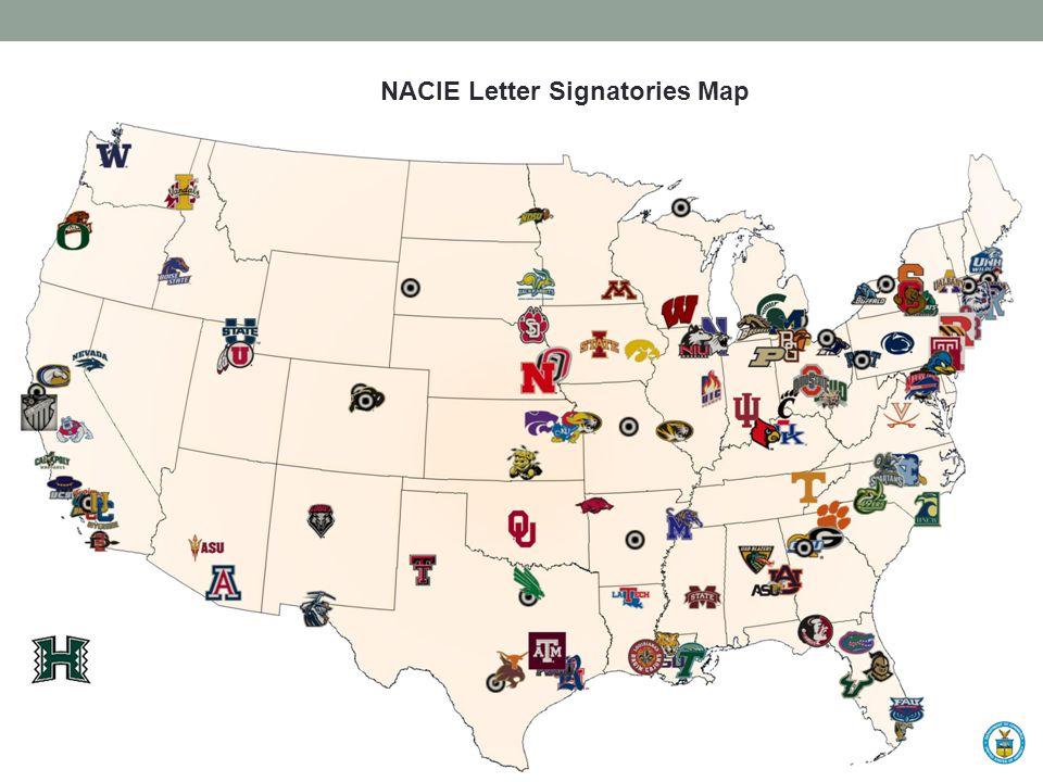 Signatories Map NACIE Letter Signatories Map