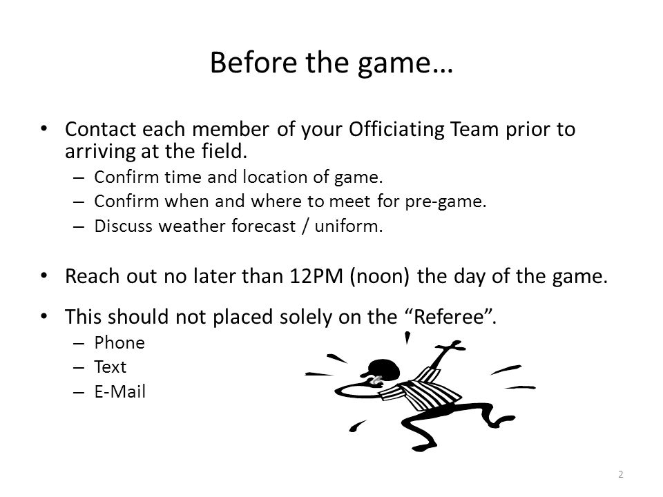 After the game… The game ends……… – Confirm the score.