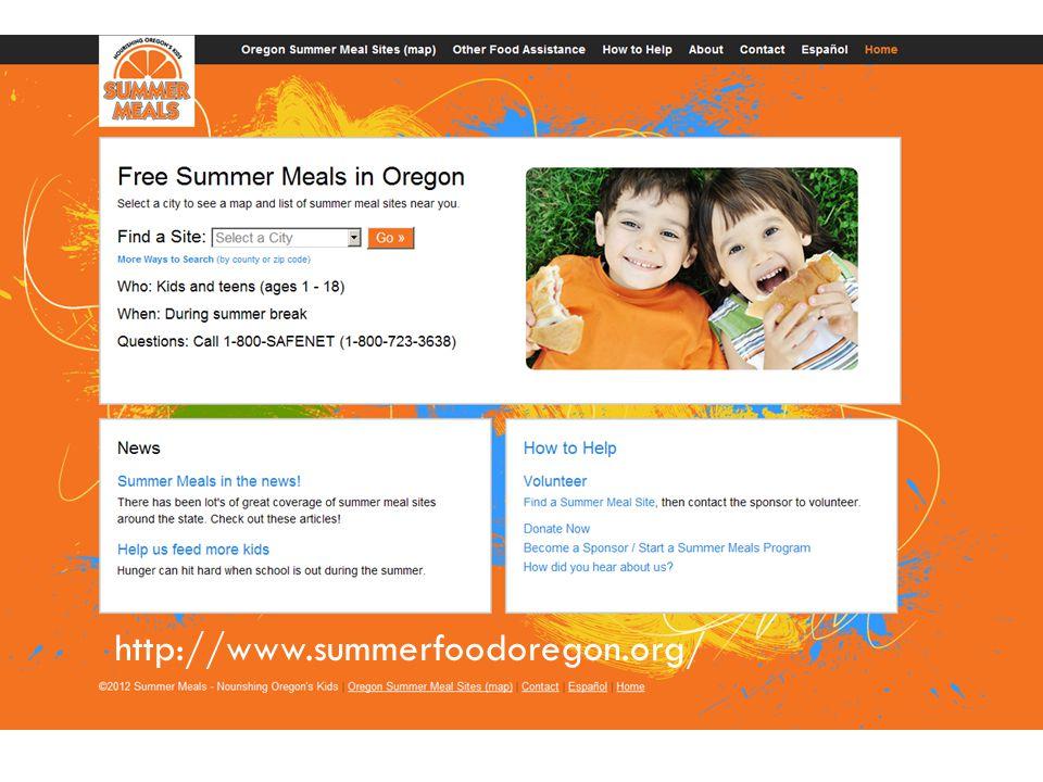 http://www.summerfoodoregon.org/