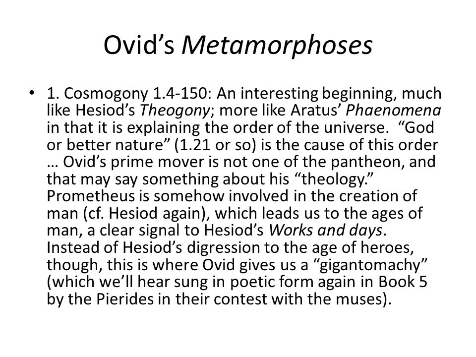 Ovids Metamorphoses Book 3 … Which leads us to the Theban cycle, because Cadmus has to find his sister.