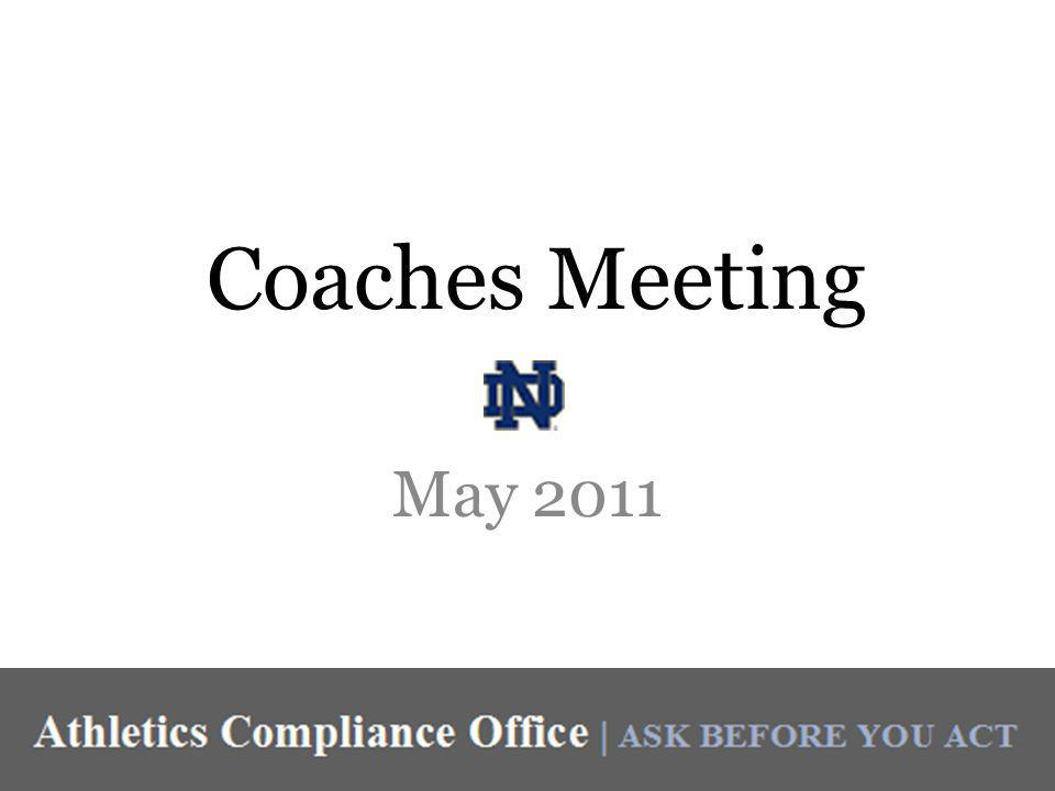 Coaches Meeting May 2011