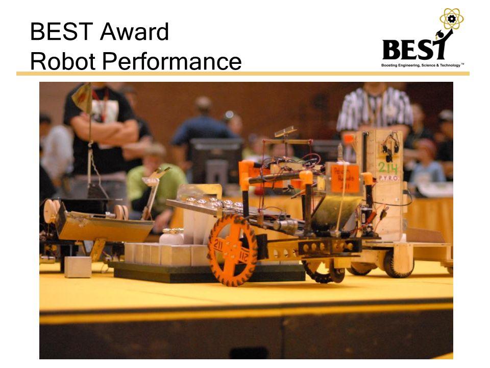 BEST Award Robot Performance
