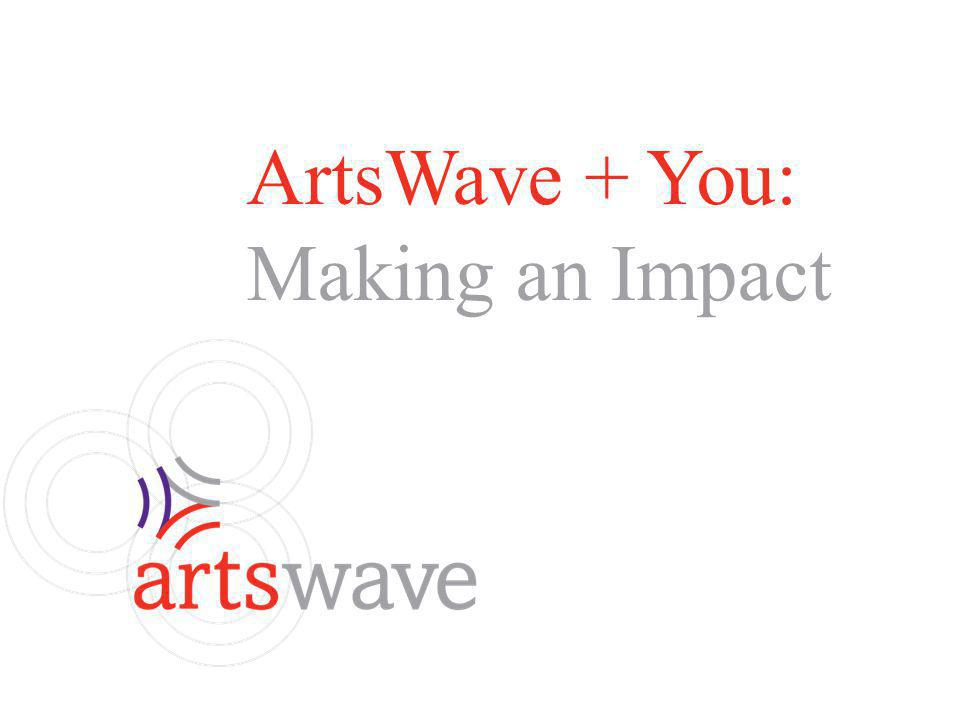 ArtsWave + You: Making an Impact