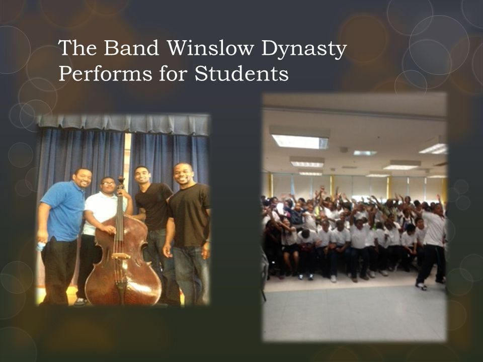 The Band Winslow Dynasty Performs for Students