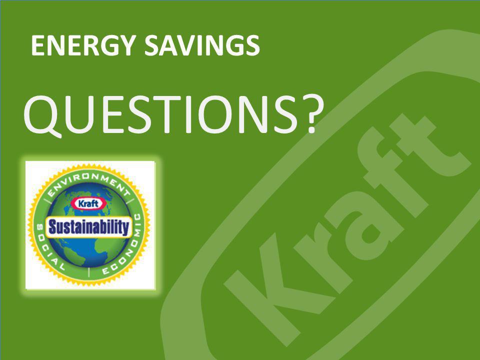 Kraft Foods Group, Inc. ENERGY SAVINGS QUESTIONS