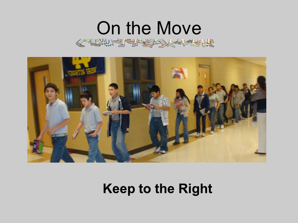 On the Move Single-file Keep to the Right