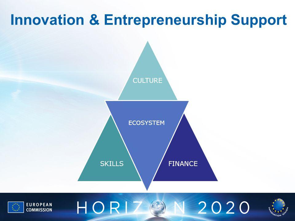 Innovation & Entrepreneurship Support CULTURE SKILLSFINANCE ECOSYSTEM