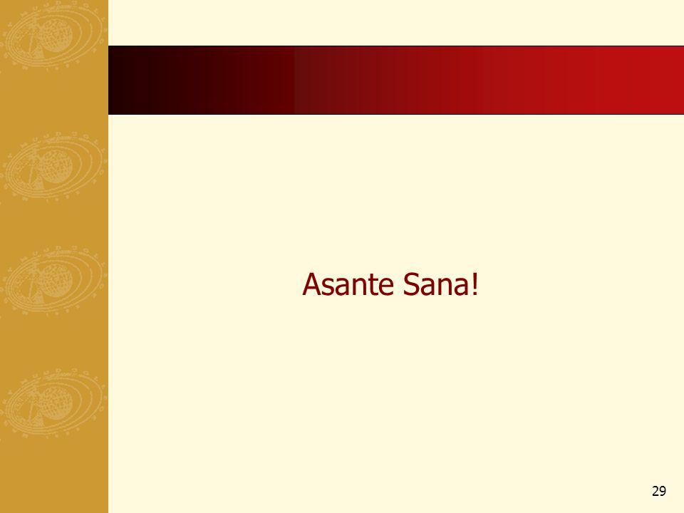Asante Sana! 29