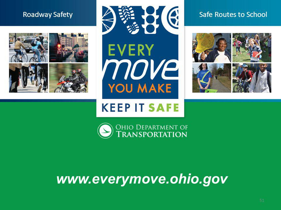 www.everymove.ohio.gov 51 Roadway SafetySafe Routes to School