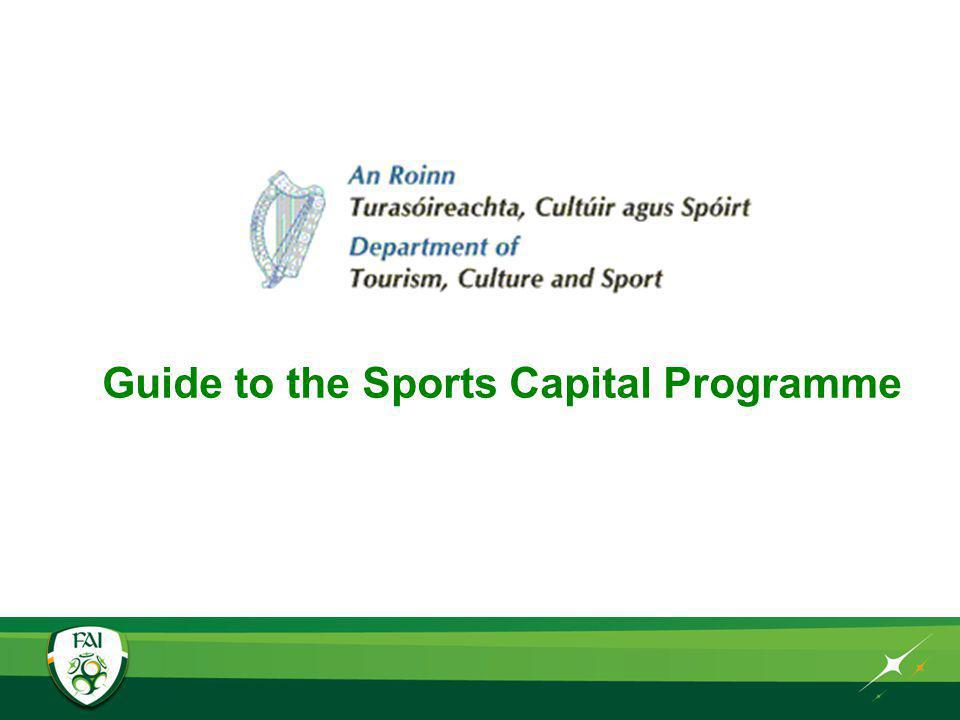 Guide to the Sports Capital Programme