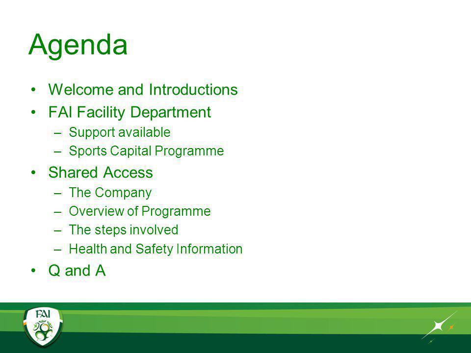 FAI Club Licensing and Facility Development Department