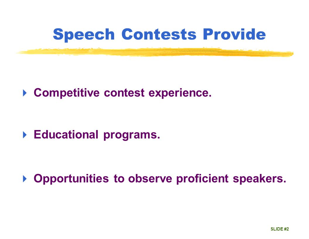 SLIDE #3 Keys to a Successful Contest Plan ahead for success.