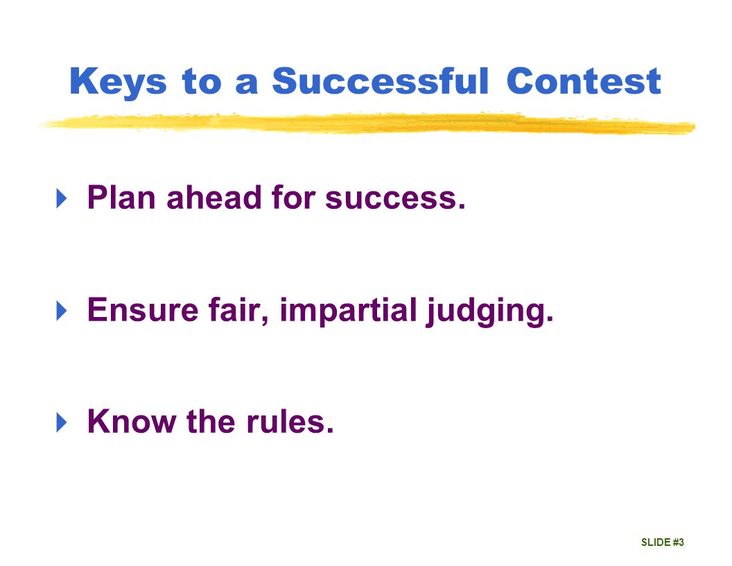 SLIDE #4 Most Misunderstood Rules Eligibility Originality Humour Props Timing Protests