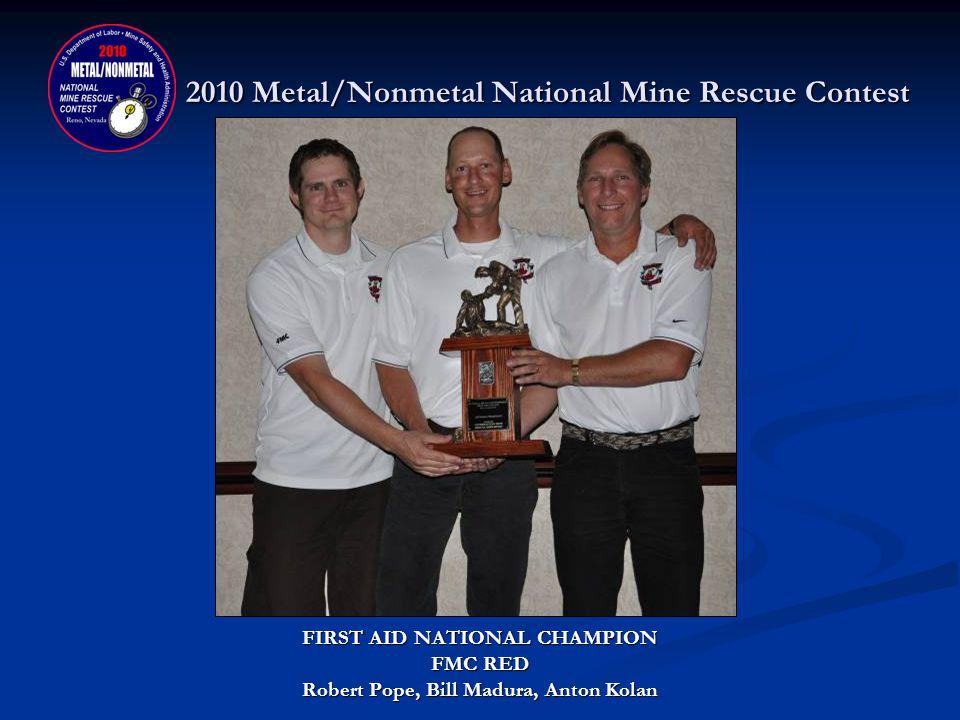 2010 Metal/Nonmetal National Mine Rescue Contest TEAM TRAINER