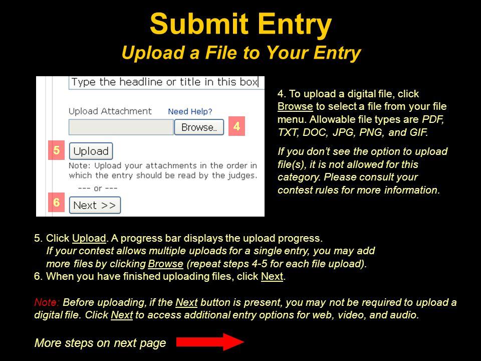 5. Click Upload. A progress bar displays the upload progress.