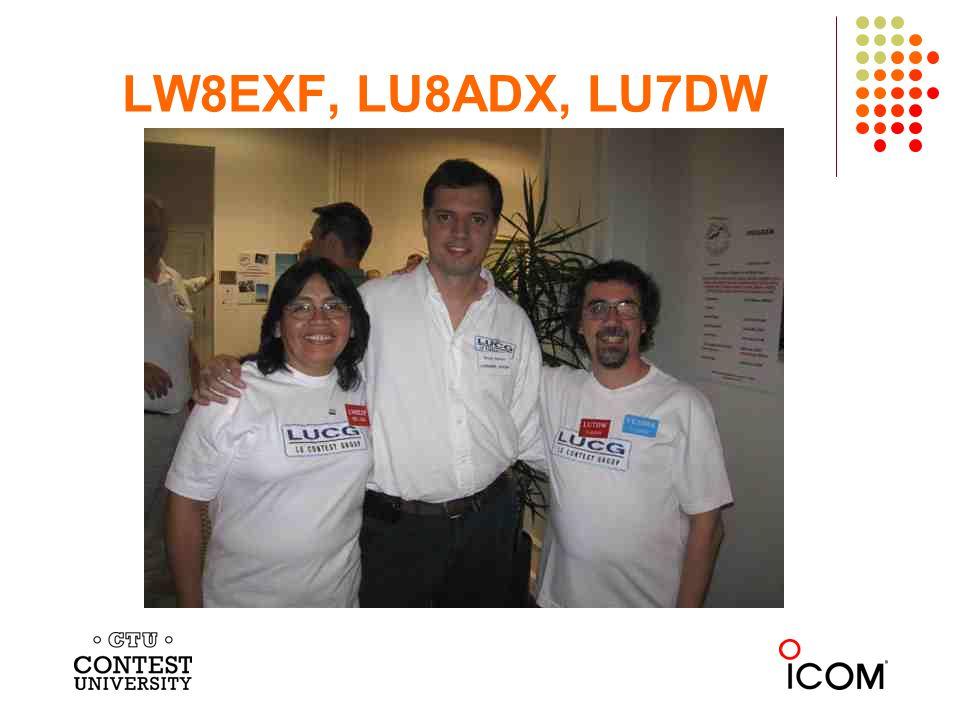 LW8EXF, LU8ADX, LU7DW