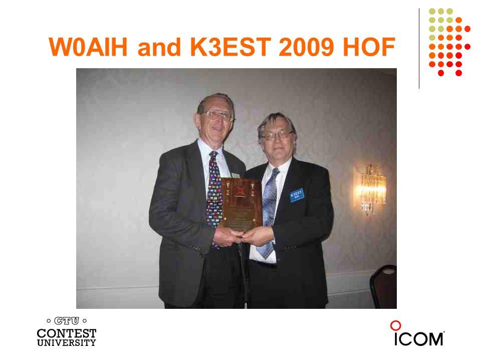 W0AIH and K3EST 2009 HOF