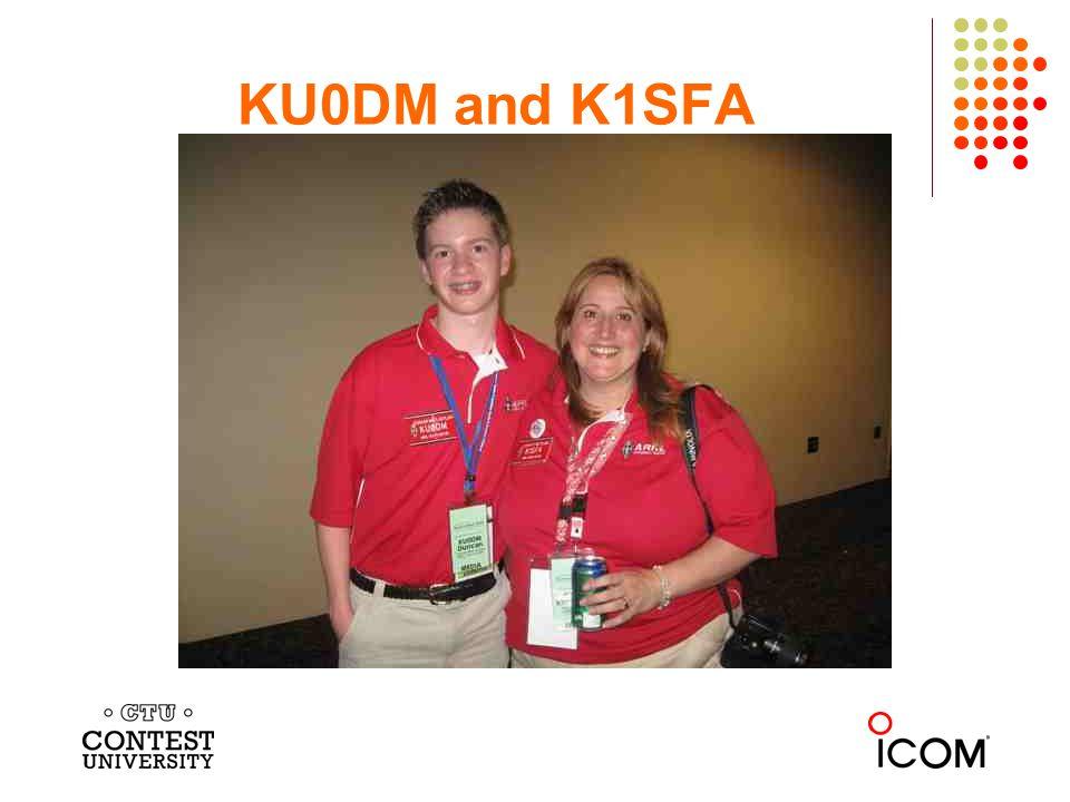 KU0DM and K1SFA