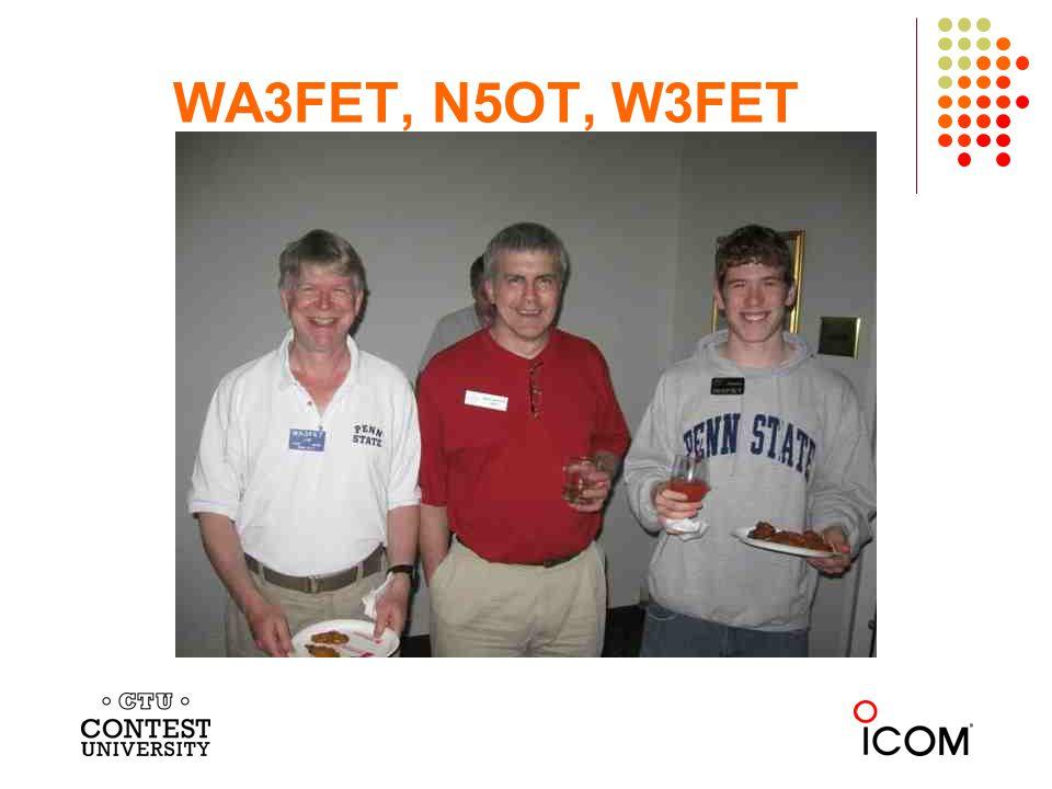 WA3FET, N5OT, W3FET