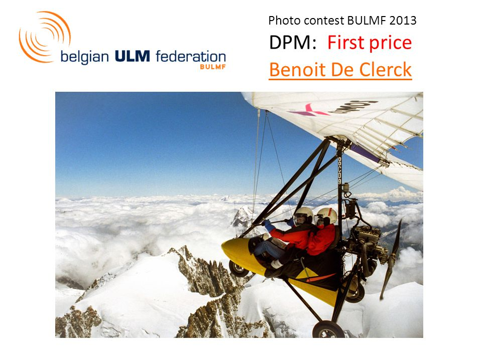 Photo contest BULMF 2013 DPM: First price Benoit De Clerck
