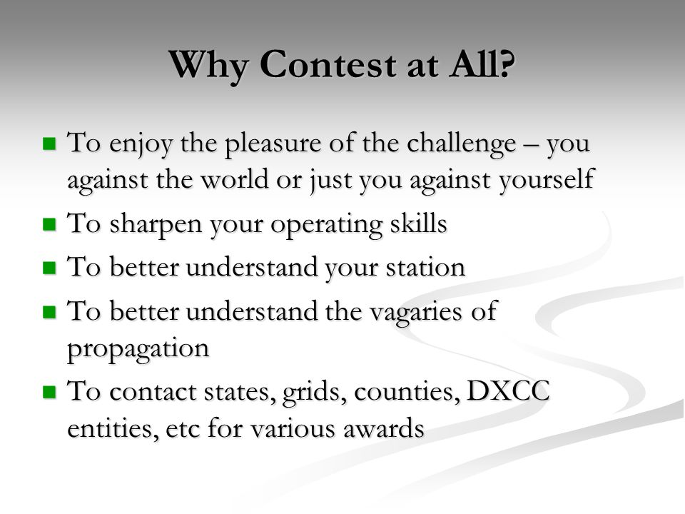 Digital Contest Software Contest-specific programs are best because they provide all the features you need...