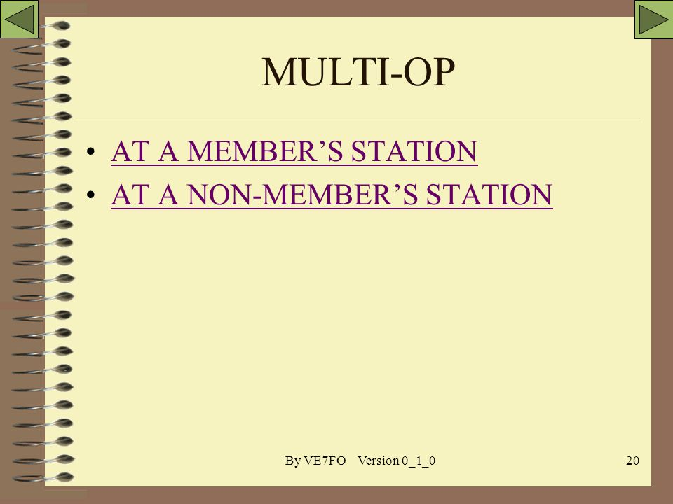By VE7FO Version 0_1_020 MULTI-OP AT A MEMBERS STATION AT A NON-MEMBERS STATION