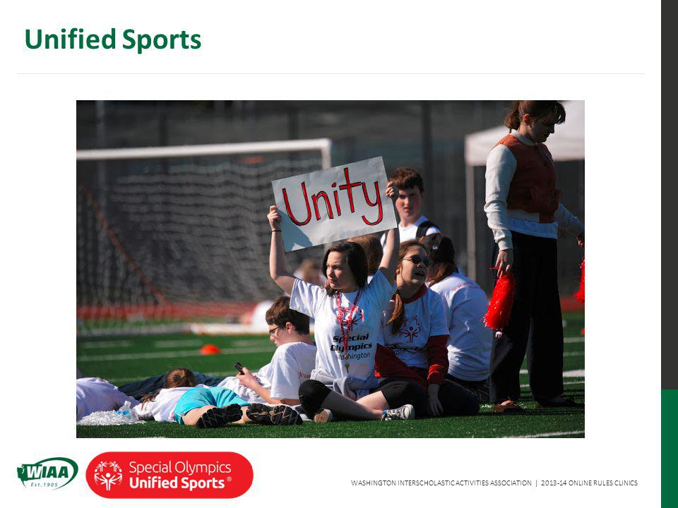 WASHINGTON INTERSCHOLASTIC ACTIVITIES ASSOCIATION | 2013-14 ONLINE RULES CLINICS Unified Sports