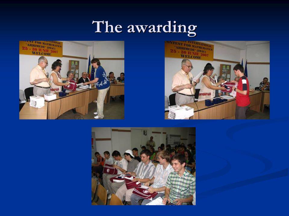The awarding