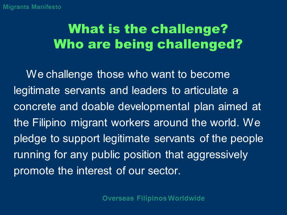 What is the challenge. Who are being challenged.